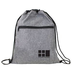 Crosshatched Drawstring Backpack