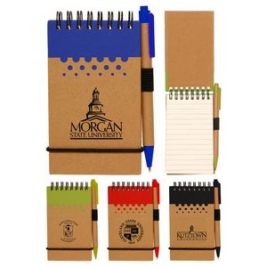 Eco Spiral Notebook Jotter w/Pen